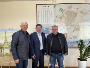 Перша робоча зустріч із заступником Херсонського міського голови Володимиром Лук'яненком