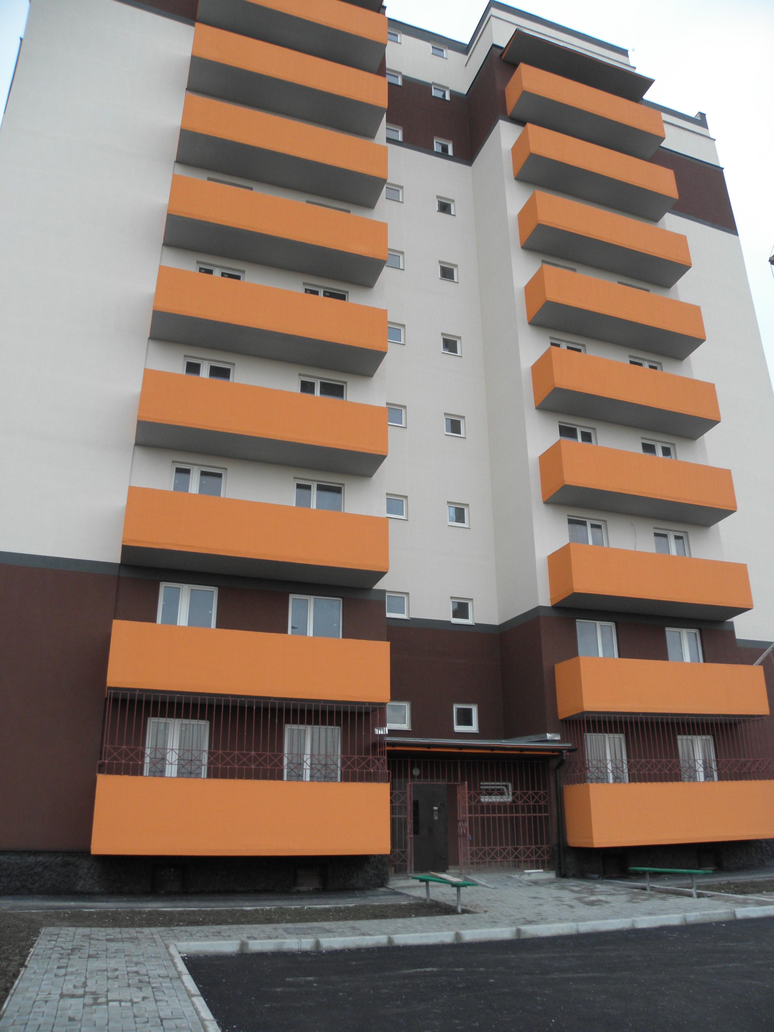 Пдготовка до урочистистостей з нагоди введення в експлуатацію нового житлового будинку